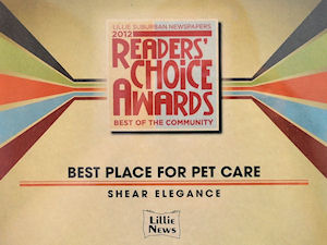 """Peoples Choice Best Place for Pet Care for 2012"""