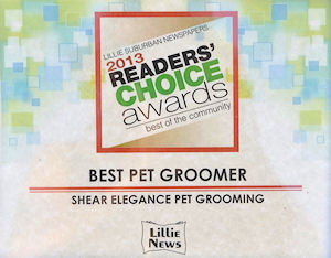 """Peoples Choice Best Pet Grromer for 2013"""